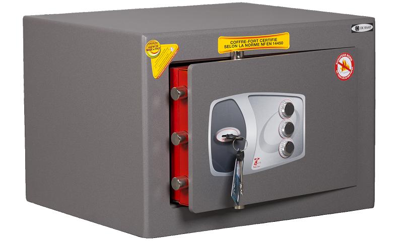 TECHNOMAX DPD5 brandkast met sleutel en 3-punt mechanische code